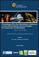Proceedings of the First International Conference on Innovative Materials and Technologies for Constuction and Restoration